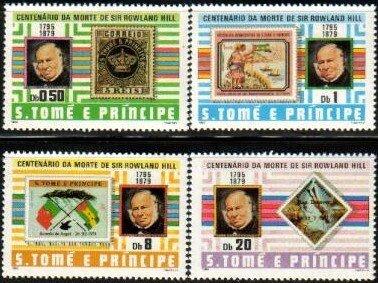 St. Thomas & Prince Islands MNH 573-6 Sir Rowland Hill 1980 SCV 8.80
