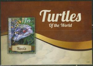 NEVIS  2013 TURTLES  SOUVENIR SHEET MINT NH