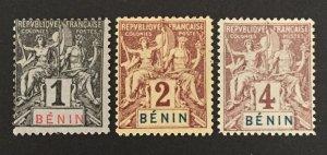 Benin 1894 #33-5, Unused/MH(see note), CV $10.50