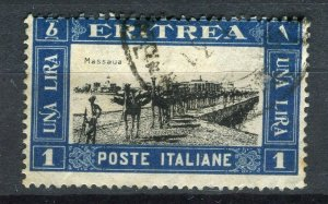 ITALY; ERITREA 1930 early Pictorial issue fine used 1L. value