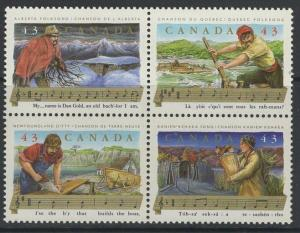 CANADA SG1564a 1993 FOLK SONGS MNH