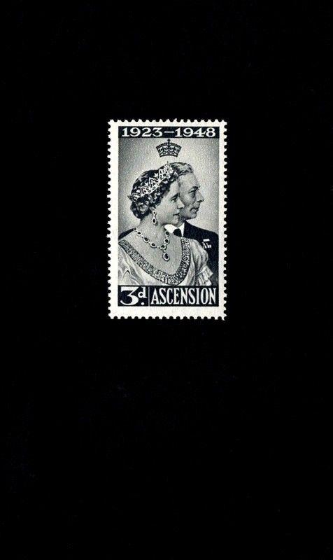ASCENSION - 1948 - SILVER  WEDDING  ISSUE - # 52 - MINT - MNH - SINGLE!