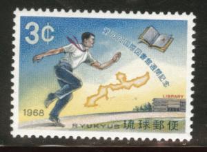 RYUKYU (Okinawa) Scott 169 MNH** 1968 book stamp
