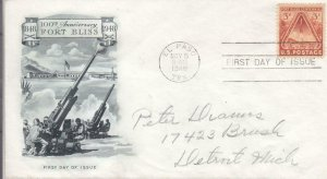 1948, 100th Anniv. Fort Bliss, Artmaster, FDC (D13041)