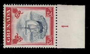 GRENADA GVI SG184, $2.50 slate-blue and carmine, M MINT. Cat £17. CONTROL