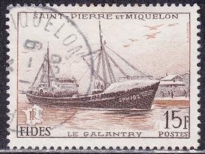 St. Pierre & Miquelon 350 USED 1956 Le Galantry SPM192