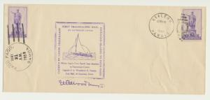 HAWAII-PAGO PAGO 1939 1sT TRANS PACIFIC OUTRIGGER CANOE MAIL, SIGNED BY CAPT.