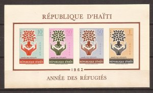 1962 Haiti - Sc C192a - MNH VF - Mini Sheet - Refugees - WRY