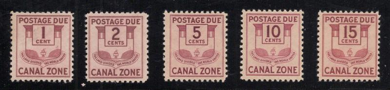 CZ#'s J25 to J29 - Postage Dues - Unused - O.G.