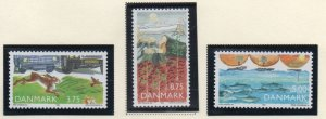 Denmark  Scott 961-963 1992 Protect the Environment stamp set mint NH