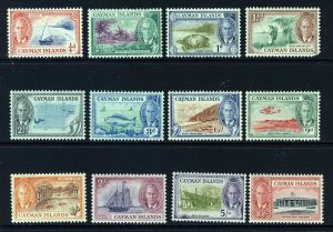 CAYMAN ISLANDS KG VI 1950 The Pictorial Set (ex. 2d.) SG 135 to SG 147  MINT