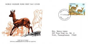 Worldwide First Day Cover, World Life Fund, Lesotho