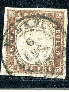 Sardinia  #15 Used  VF   Cat $3650  - Lakeshore Philatelics
