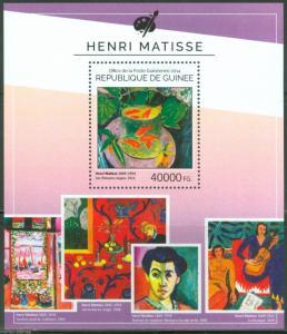 GUINEA 2014 HENRI MATISSE PAINTINGS SOUVENIR SHEET MINT NH