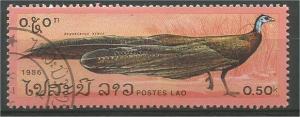 LAOS, 1986, CTO 50c, Pheasants, Scott 715