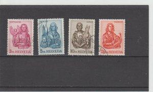 Switzerland  Scott#  406-409  Used  (1961 Evangelists)