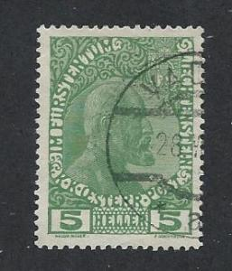 LIECHTENSTEIN SC# 1a FVF/U 1915