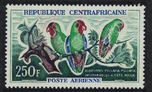 Central African Rep. Birds Red-faced lovebirds 250f SG#15 MI#32