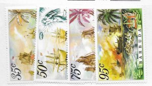 Barbuda #209-212 MNH - Stamp CAT VALUE $4.50
