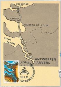 63459 -  BELGIUM - POSTAL HISTORY: MAXIMUM CARD 1975 -  MAP