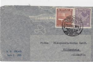 CHILE AIRMAIL COVER WITH INVERTED STAMPS ARICA  ALEMANIA      R 1497