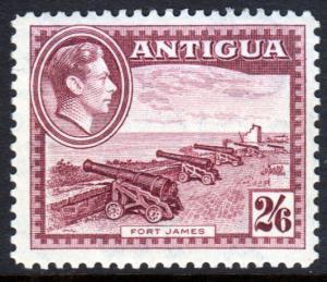 Antigua KGVI 1938 2/6 2s6d Maroon SG106a Mint Never Hinged MNH UMM