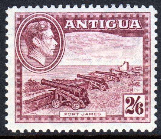 Antigua KGVI 1938 2/6 2s6d Maroon SG106a Mint Never Hinged MNH UMM