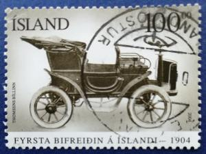 Iceland First Automobile CentenaryScott # 1024 Used (I892)