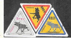 Sweden #2241,2242,2244 Road Signs  (U) CV $3.00
