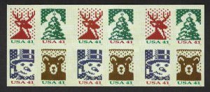 U.S. #4210d CHRISTMAS KNITS   BOOKLET PANE MINT, NH AT FACE VALUE!