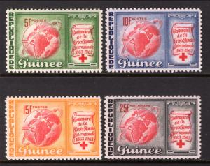Guinea MNH 309-11,C50 Red Cross Centenary