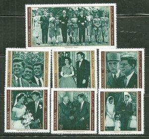 Manama MNH Set John F. Kennedy 1971 Complete Set