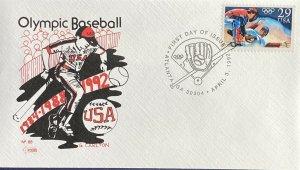 Carton 2619 Olympic Baseball USA 1984 1988 1992