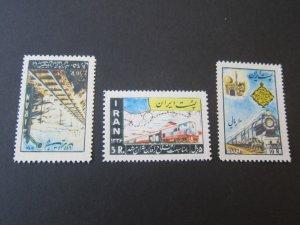 Iran 1957 Sc 1574-6 (small toning) set MNH