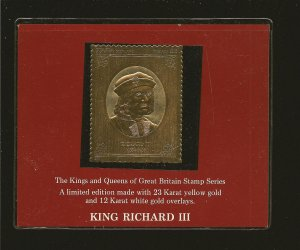 Great Britain QE2 Silver Jubilee 1977 King Richard III L8 Gold Stamp Staffa