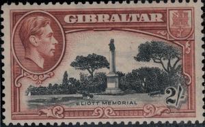 Gibraltar 1938-1949 SC 115Var off Right Center Mint SCV $150.00