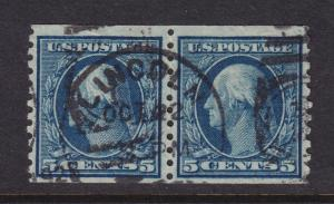 458 Pair VF-XF used neat cancel with nice color cv $ 95 ! see pic !