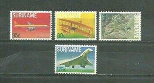 Suriname Airplanes, Aviones4v Scott 516-19 MNH