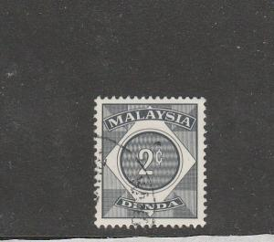 Malaysia 1966/71 Postage dues 2c VFU/CTO SG D2
