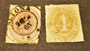 GER. STATE HOLSTEIN #24 & 25 USED CV $105.00