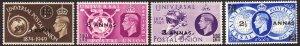 1949 Oman KGVI UPU complete MNH set Sc# 31 / 34 CV $8.00