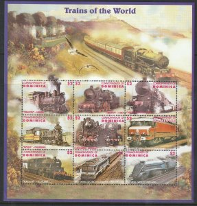 Dominica MNH S/S Trains Of The World Large Size