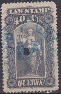 Quebec Law Stamp F-VF Used CV $4.00 (ST724)