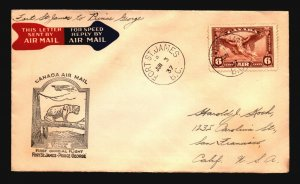 Canada 1937 FFC Ft St James to Prince George - Z17399