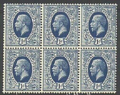 GB 1912 GV 'Ideal Stamp' essay - block of 6 MNH...........................21959b