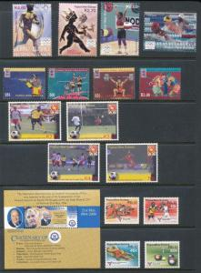 Papua New Guinea Sport Olympics Soccer MNH+Mini Sheets(19 Items)PAP308