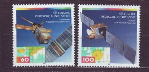 J23403 JLstamps 1991 germany set mnh #1642-3 space europa