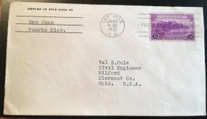 801, Puerto Rico, First Day Cover, historical piece, Vic's Stamp Stash
