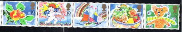 Great Britain Sc 1243-47 1989 Greetings stamp set mint NH