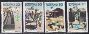 Botswana # 582-585, U.N. 50th Anniversary, NH, 1/2 Cat.